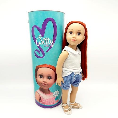 witty girls noa muñeca 45cm /18 pulg original american pre