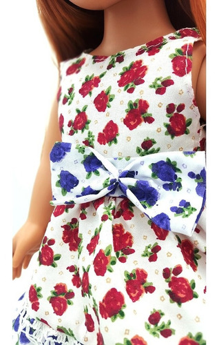 witty girls vestido floral ropa muñecas 45 cm/18 pulg