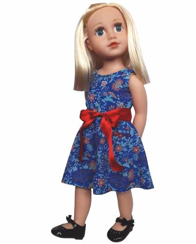 witty girls vestido gasa floreado ropa muñecas 45 cm/18 pulg