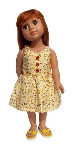 witty girls vestido solero ropa muñecas 45 cm/18 pulg