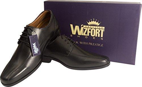 wizfort negro zapatos de vestir para hombre