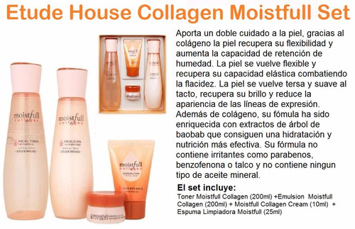 wkm etude house tónico emulsión espuma crema colágeno