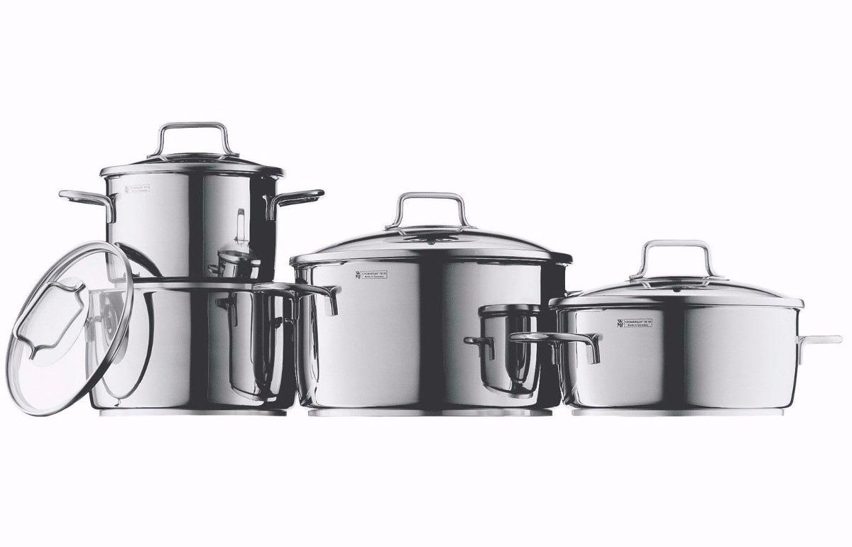 Wmf bater a de cocina de acero inoxidable astoria 8 piezas for Articulos acero inoxidable para cocina