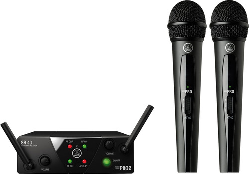 wms40mini vocal set akg micrófono sistema inalámbrico doble