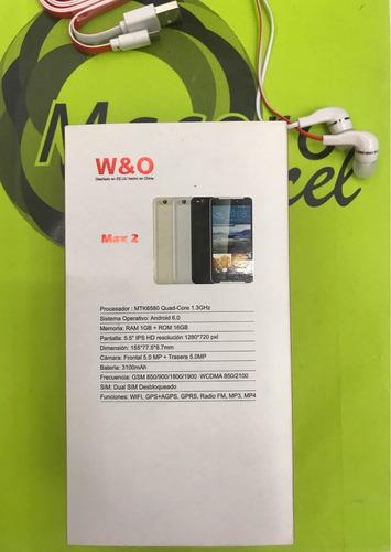 w&o max 2 smartphone nuevo pantalla 5.5