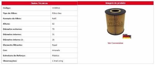 woe 912 filtro de óleo idea / punto 1.6 / 1.8 2010 adiante