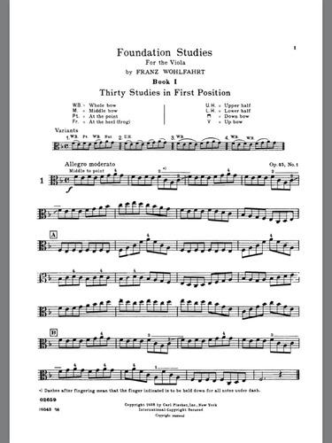 wohlfahrt - 30 estudios op.45 - para el estudio de la viola