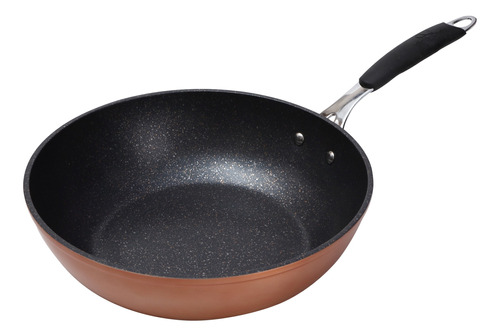 wok bergner 28 x 8 cm aluminio forjado infinity chefs