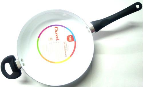 wok carol  cerámica  26 cm antiadherente negro