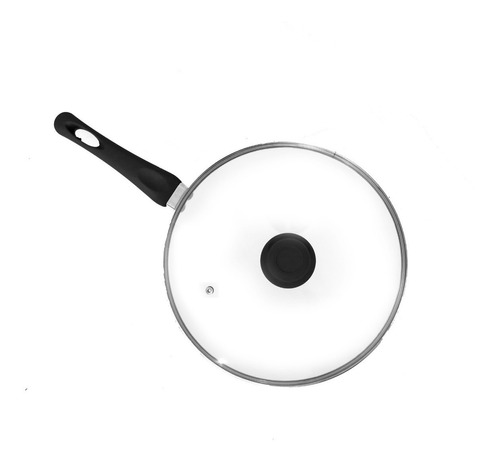 wok ceramica 30cm antiadherente tapa vidrio silicona sarten