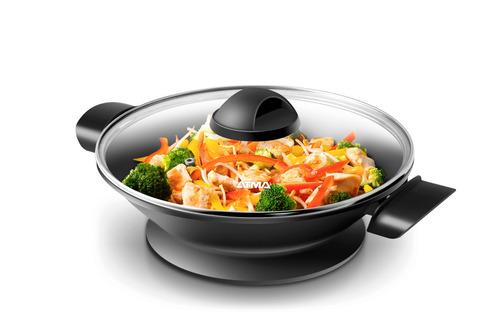 wok eléctrico antiadherente 1300w atma pg4810n