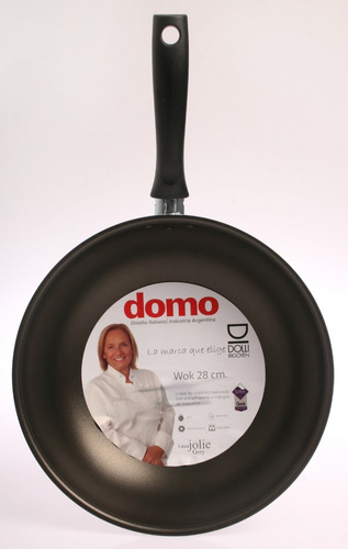 wok sarten domo 28 cm teflon- excelente calidad