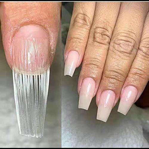 wokoto 100 piezas de fibra de vidrio para uñas forma de fib
