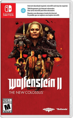 wolfenstein ii: the new colossus - fisico nintendo switch