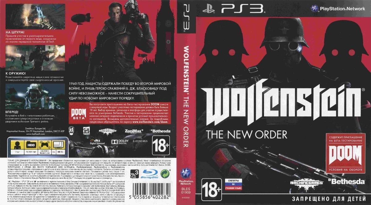 Wolfenstein The New Order Ps3 Fisico Original
