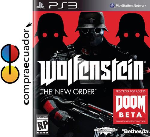 wolfenstein the new order ps3 juego original sellado ps3.