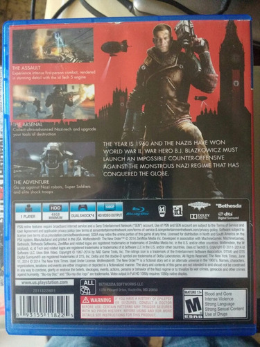 wolfenstein the new order ps4 the
