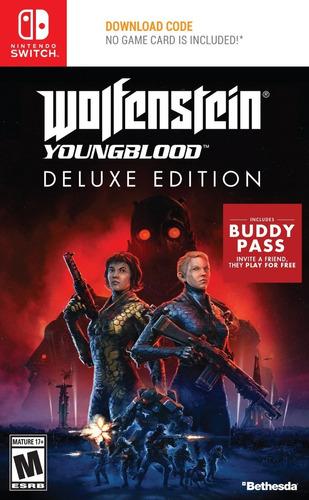 wolfenstein youngblood deluxe switch codigo no trae tarjeta