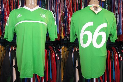 wolfsburg 2012 camisa titular tamanho g número 66.