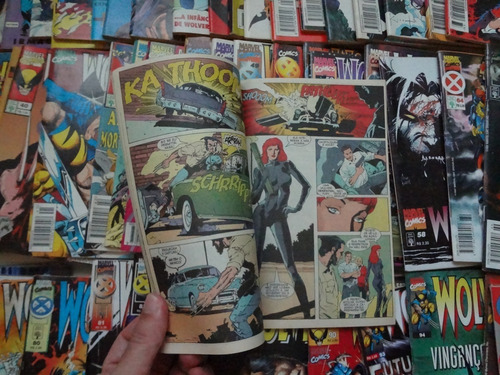 wolverine 1992 abril formatinho 61 hq gibi  seminovo comics