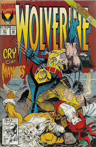 wolverine 51 - marvel comics - bonellihq cx413 h18