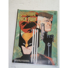 Wolverine E Nick Fury Gibi Grande Da Graphic Marvel