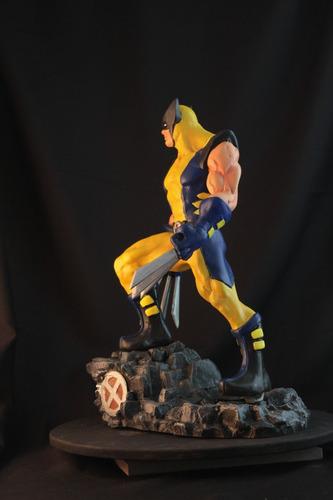 wolverine escultura de resina 40 cm