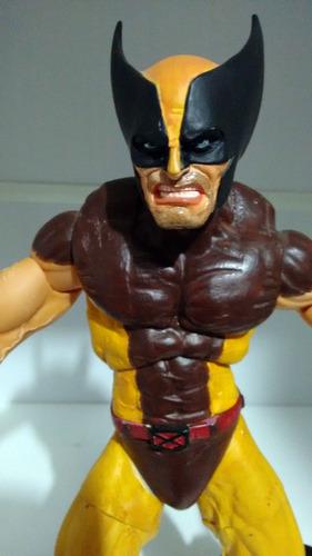 wolverine marvel rotocast 30cm versão marrom custom toy biz