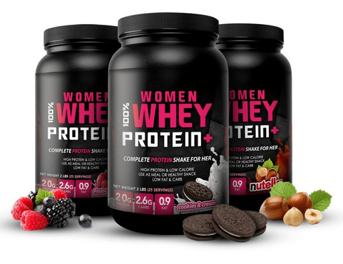 woman 100% whey protein 2lb proteina mujer suplemento gym