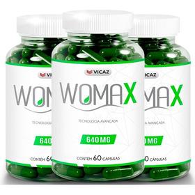 Womax 60 Cápsulas 3 Frascos Vicaz Promoção Garantia 30 Dias