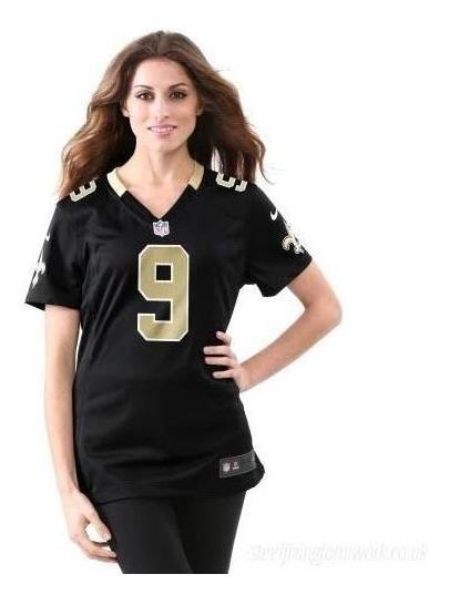new product a3ff8 f6575 Women's Nike Drew Brees Black New Orleans Saints Talla Xl