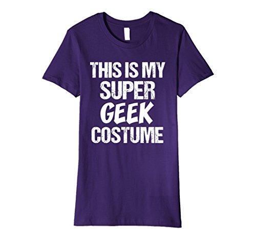 womens premium divertido este mi super geek traje superhero