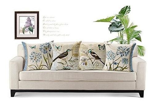 womhope  funda de cojin para sofa, cama, silla, 4 piezas, di