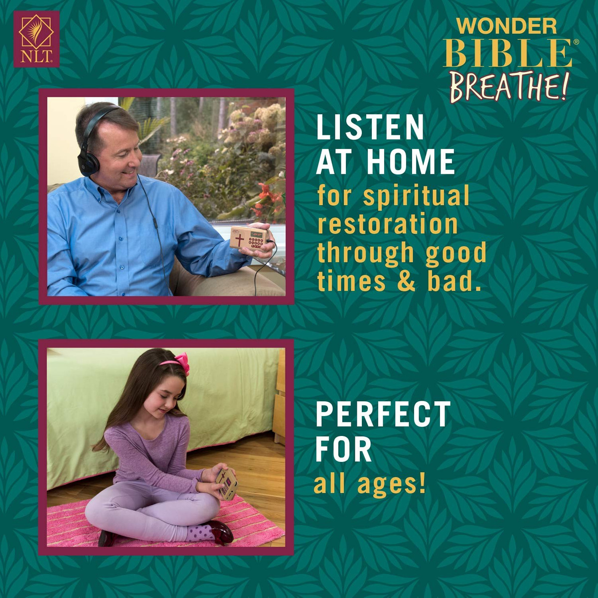 Wonder Bible Breathe Nlt- The Talking Audio Bible Player