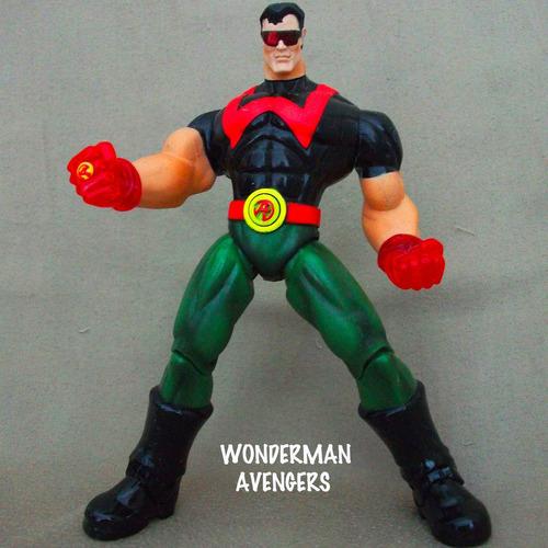 wonder man avengers marvel toybiz 1999, 15 cm. articulado