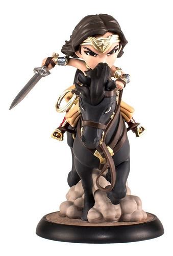 wonder woman - q-fig max mini estatua - qmx - robot negro