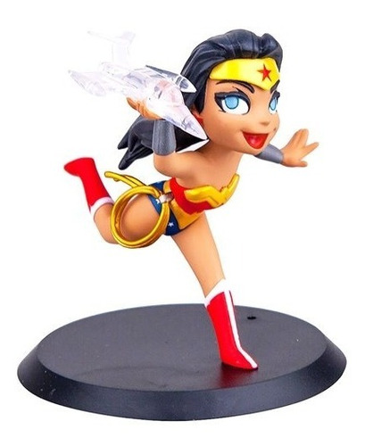 wonder woman q-fig mini estatua - qmx - robot negro