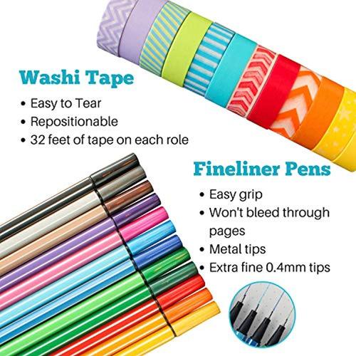wonderful washi kit de diario puntos bala