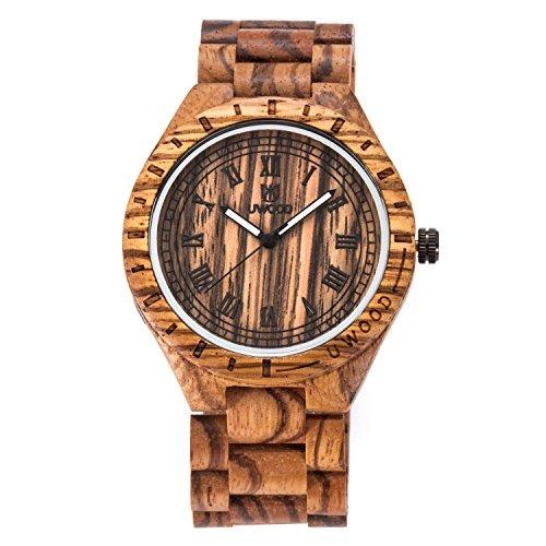 76b40bbdeabf Wood Watch Laniakea Reloj Pulsera Cuarzo Analógico Madera ...