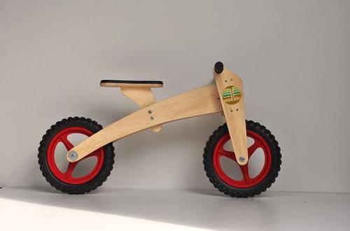 woodbike 3x1 - bicicleta infantil - balance bike - vermelho