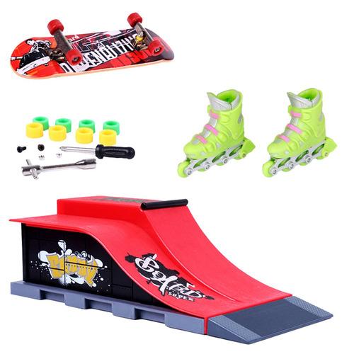 wooden fingerboard toy finger roller skate skateboard ramp