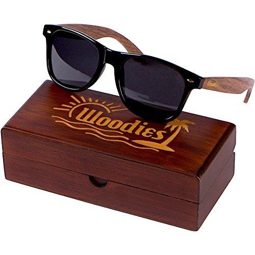 3ebf8ba2c Woodies Gafas De Sol Wayfarer De Madera De Nogal Con Caja ...