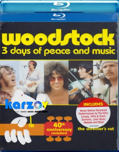 woodstock 3 days of pace and music  blu-ray