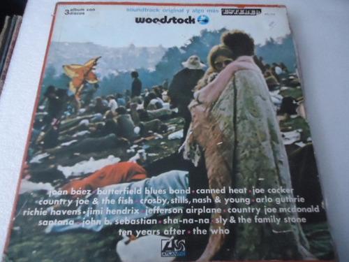 woodstock / soundtrack y algo mas vinyl lp acetato
