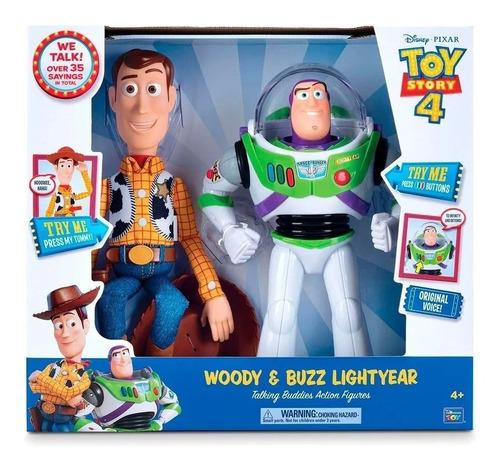 woody + buzz lightyear toy story 4 amigos parlantes origin.
