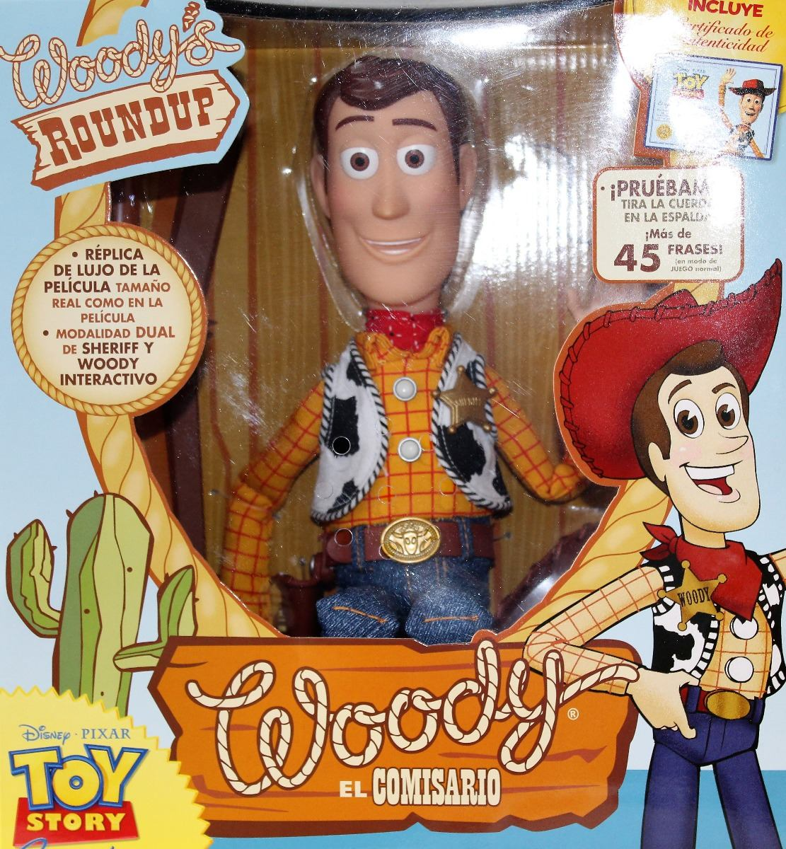 333fea4dab9ce woody el comisario toy story figura original con certificado. Cargando zoom.