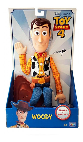 woody toy story 4 suave y abrazable original