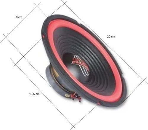woofer 8 pulgadas 120 watts 4 ohms ala roja by dancis