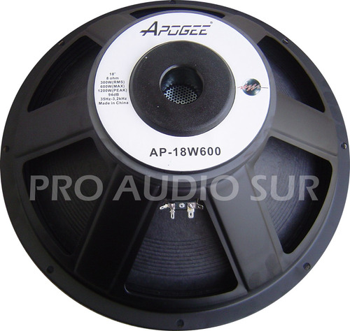 woofer apogee ap 18 w600 300 watts parlante 94db subwoofer