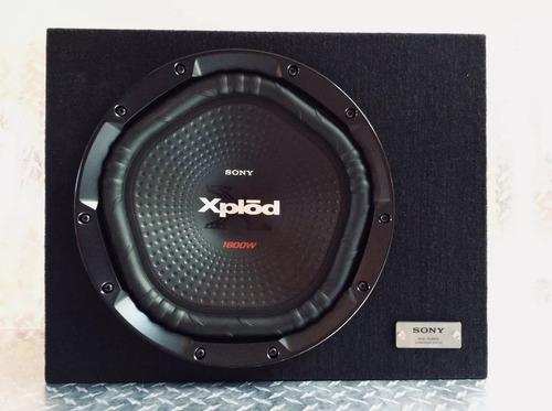 woofer con cajon sony xs-nw1202s con amplificador xm-n502